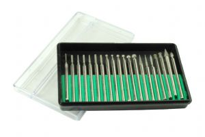 Jewellers/Watchmakers 20 Assorted Diamond Burrs 2.3mm Shank. M0204